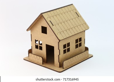 Miniature wood house