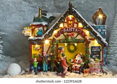 Miniature world: house of Santa