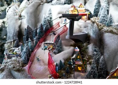 Miniature world: ski lift