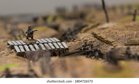 miniatures used in terrain for combat tactics reproduction