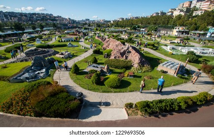 Miniaturk,Miniaturk is a miniature park situated at the north-eastern shore of Golden Horn in Istanbul, Turkey. It was opened May 2, 2003./Istanbul,Turkey ,August 2017