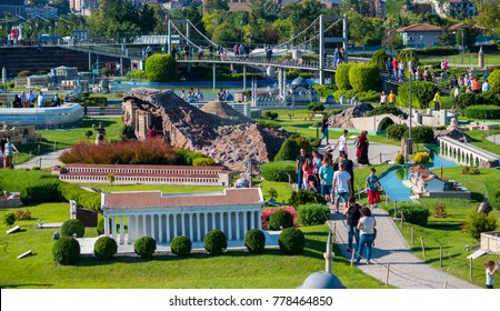 Miniaturk,Miniaturk is a miniature park situated at the north-eastern shore of Golden Horn in Istanbul, Turkey. It was opened May 2, 2003./Istanbul,Turkey ,December 2017
