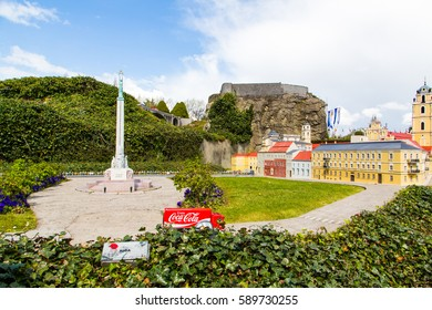 Mini-Europe in Brussels. Mini-Europe has reproductions of monuments in the European Union on show, at a scale of 1:25. Milda statue of Liberty in Riga.