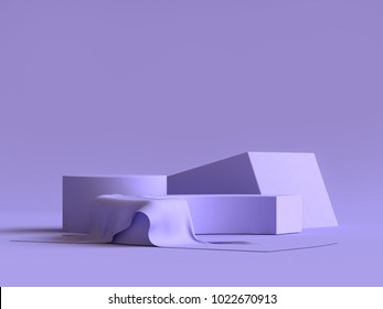 minimal abstract background 3d rendering abstract geometric shape group set violet-purple
