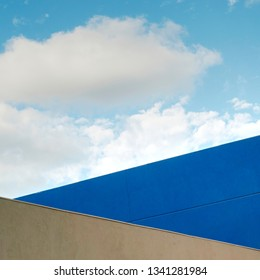 minimal architecture and blue sky
