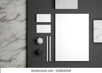 Minimal stationery mockup for your brand identity design