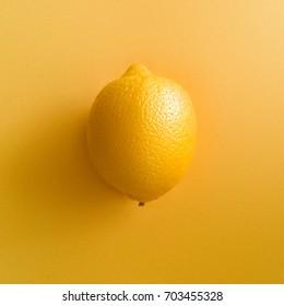 Minimal style. Minimalist Fashion photography. Lemon. Vitamin C. Creative minimal art