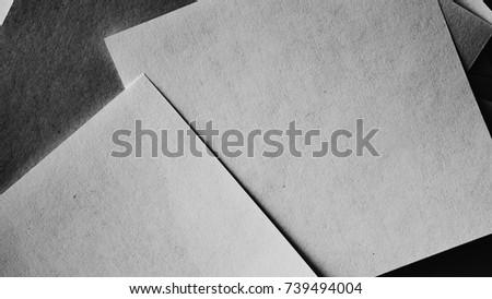 Minimal style papers dark noir light stock photo edit now