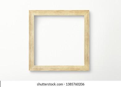 Minimal wooden frame mockup design