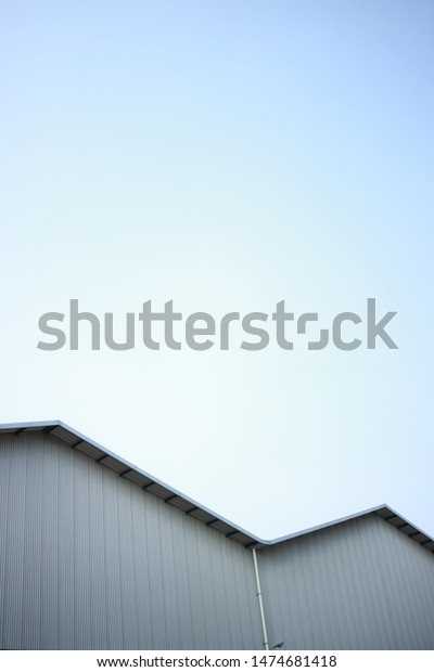Minimalist Building Roof Design Two Curves Stock Photo Edit Now 1474681418