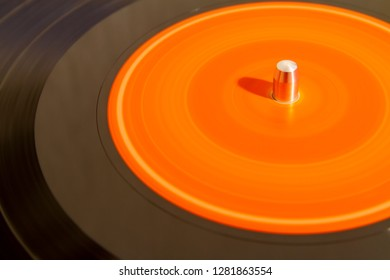 Minimalist colorful abstract lp vynil record blurred isolated