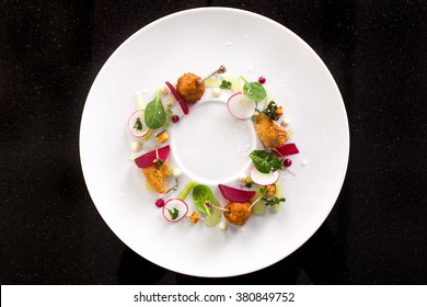 minimalist dish top view