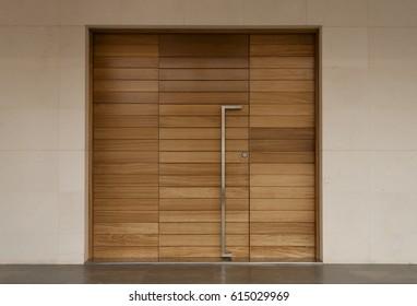 minimalist door, front door, wooden door, big wooden door