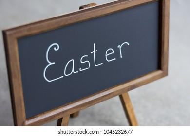minimalist Easter sign