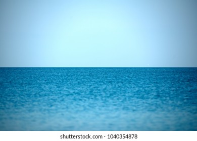 Minimalist sea and sky beach in shades of blue, simply amazing