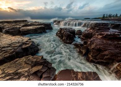Minimalist Seascape. Kiama Surf coastal Sunrise. Australia