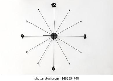 Minimalistic design of contemporary style wall clock