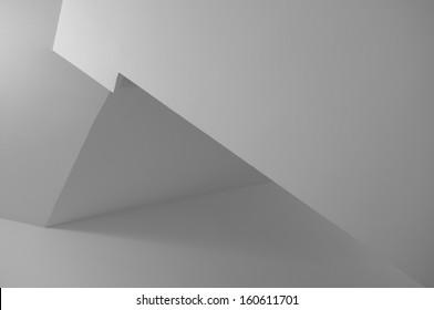 Minimalistic Monochrome Geometric Corner Background