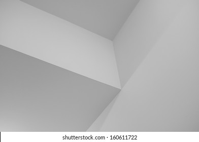Minimalistic Monochrome Geometric Corner Background