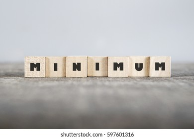 MINIMUM word made with building blocks