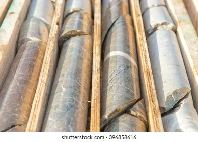 mining core samples from test drilling rigs