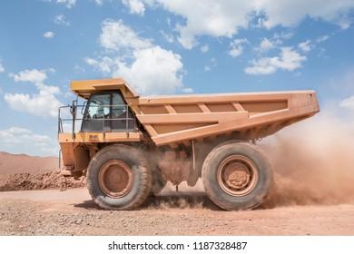 Mining dump giant truck