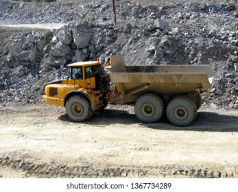 mining equipment in the quarry