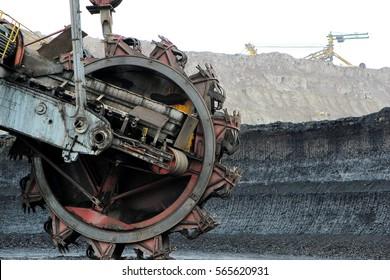mining machine in brown coal mine