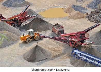 Mining machine, stone quarry.