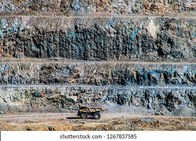 Mining pit photography , trucks, mining industry copper
