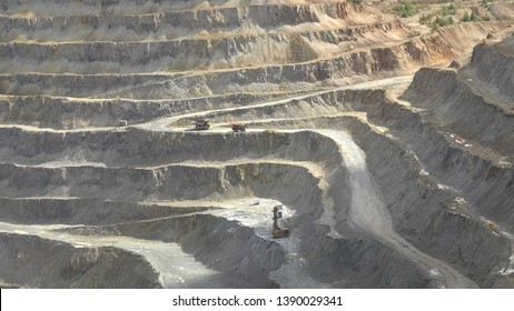 Mining quarry extraction of stone ore