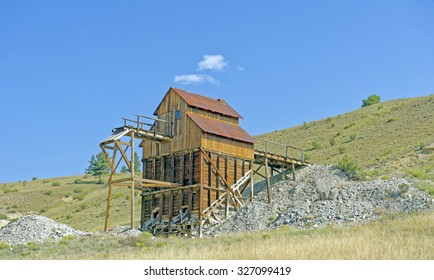 Mining remains near Creede on Hwy. 149 (Silver Thread Scenic Byway) in Southwestern Colorado, U.S.A.