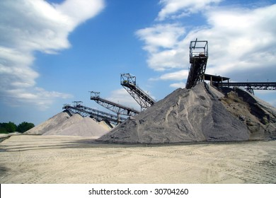 Mining and sorting sand