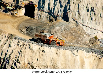 Mining Truck Driving out of Underground Mine
