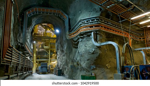 Mining underground Infrastructure, underground gold and copper mine in Australia.