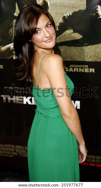 """Minka Kelly attends the Los Angeles Premiere of """"The Kingdom"""" held at the Mann Village Theater in Westwood, California, United States on September 17, 2007."""