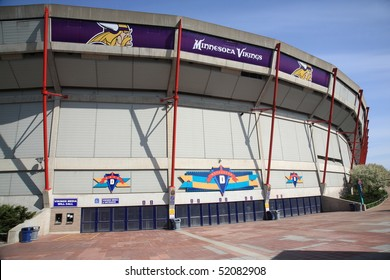 MINNEAPOLIS - APRIL 21: Recently renamed Mall of America Field at the Hubert H. Humphrey Metrodome, home of the Minnesota Vikings, on April 21, 2010 in Minneapolis, Minnesota.