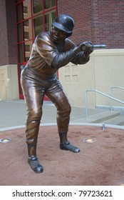 MINNEAPOLIS - APRIL 21: Statue of Rod Carew at Target Field, home of the Minnesota Twins, on April 21, 2010 in Minneapolis, Minnesota. Carew had a career batting average of .328, including 3053 hits.