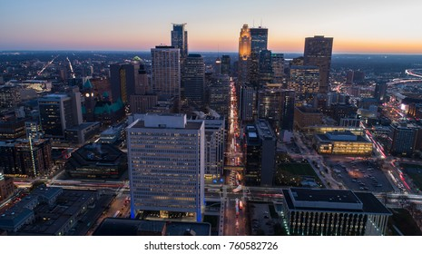 Minneapolis Cityscape Sunset