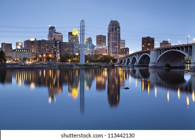 Minneapolis. Image of Minneapolis downtown at twilight.