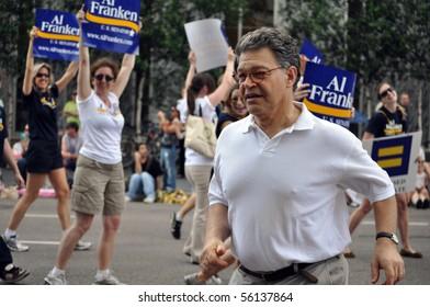 MINNEAPOLIS - JUNE 27:  U.S. Senator Al Franken participating in the Twin Cities Gay Pride Parade on June 27, 2010 in Minneapolis.
