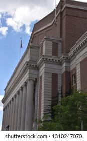 MINNEAPOLIS, MINNESOTA - JUL 28: Cyrus Northrop Memorial Auditorium on the campus of the University of Minnesota, as seen on July 28, 2017.