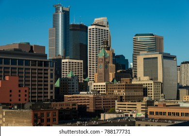 Minneapolis, Minnesota - September 23 2017:Minneapolis downtown skyline, Minnesota, USA