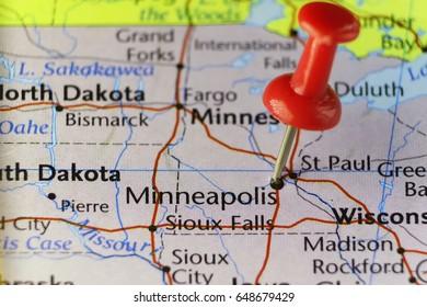 Minneapolis Minnesota, USA. Copy space available.