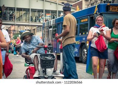 MINNEAPOLIS, MINNESOTA / USA - June 24 2018: Twin Cities Pride Celebration