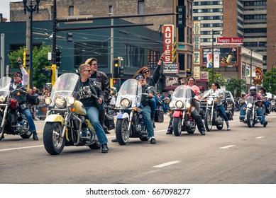 MINNEAPOLIS, MINNESOTA, USA - June 25 2017 - Twin Cities Pride Celebration