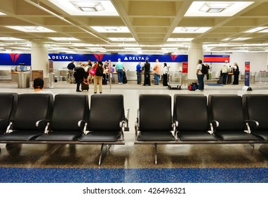 Minneapolis, MN -25 MAY 2016- The Minneapolis-Saint Paul International Airport (MSP) includes two terminals, Lindbergh and Humphrey. It is a hub for Delta.