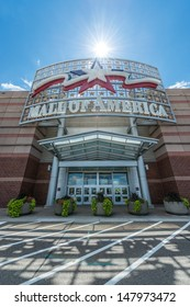 MINNEAPOLIS, MN - JULY 28:  Mall of America main entrance, on July 28, 2013, in Minneapolis, MN. The largest mall in the United States, occupying 5.6 million square feet, or 520,000 square meters.
