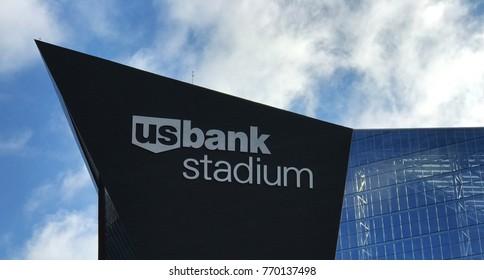 Minneapolis, MN / United States - October 15, 2017: US Bank Stadium Site of the 2018 Super Bowl- Top of the Stadium