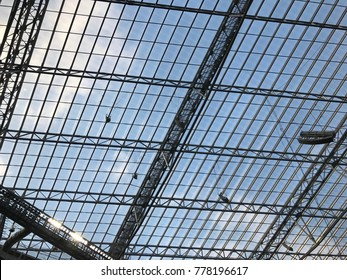 Minneapolis, MN / United States - October 15, 2017: US Bank Stadium Innovative Interior Roof-made of space age material ETFE -Site of the 2018 Super Bowl.